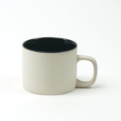 Kinta Ceramic Cup Light Grey/Black