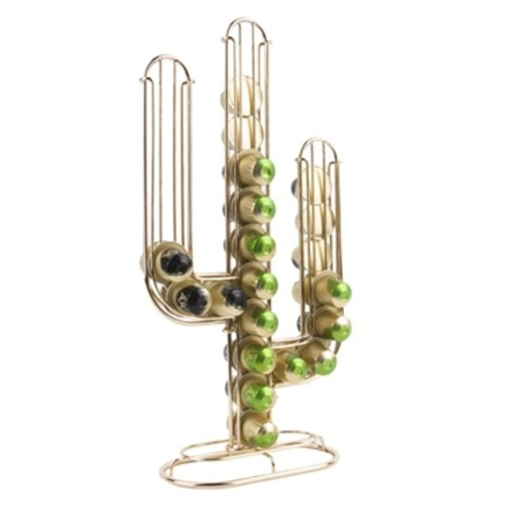 Present Time Cactus Coffee Cup Holder Goud