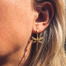 By Lauren Amsterdam Dragonfly Oorbellen Zilver Verguld