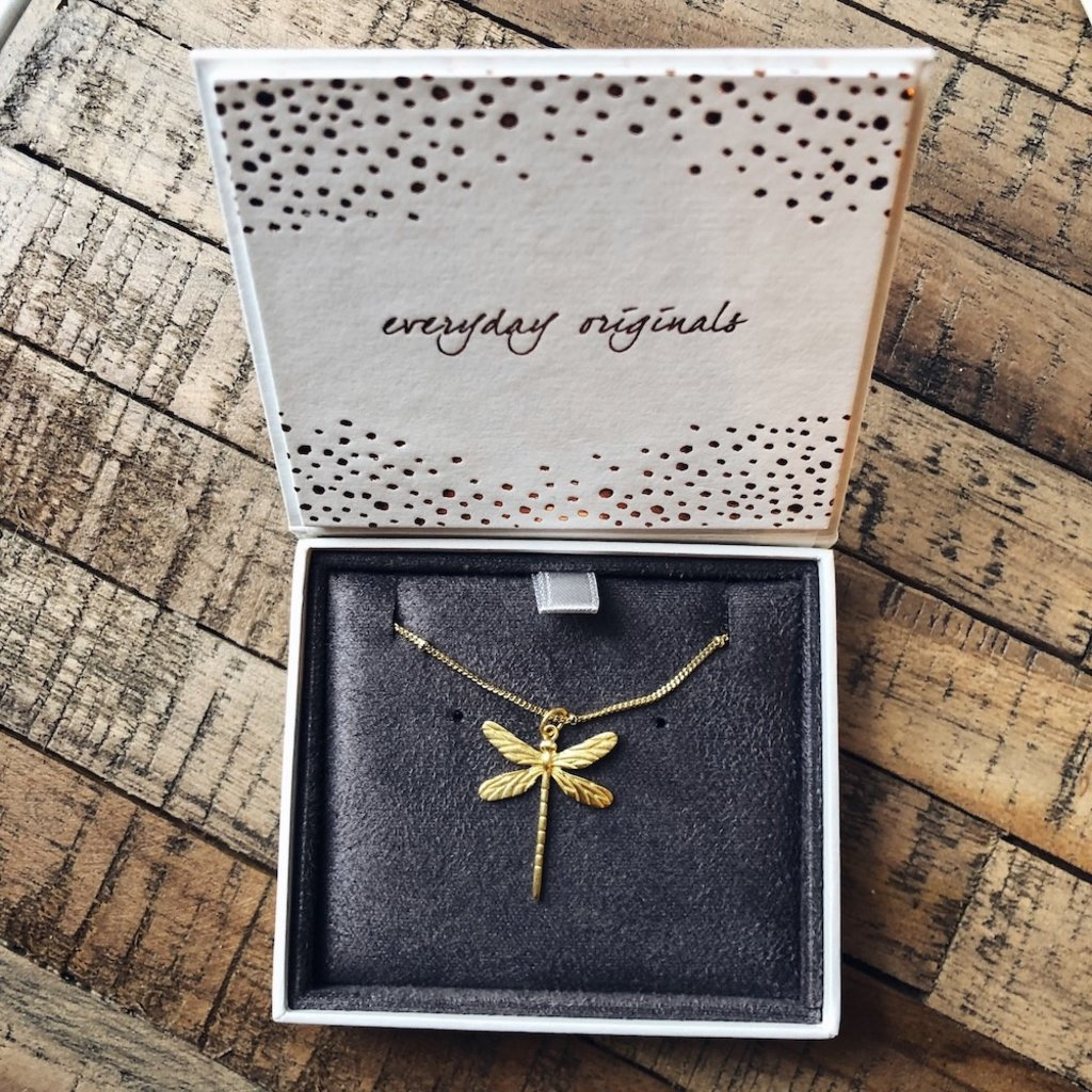 By Lauren Amsterdam Dragonfly Necklace Silver Gold Coated