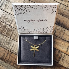 By Lauren Amsterdam Dragonfly Necklace Silver