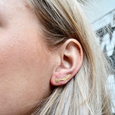 By Lauren Amsterdam Don't Leave Me Earrings Silver Gold Coated