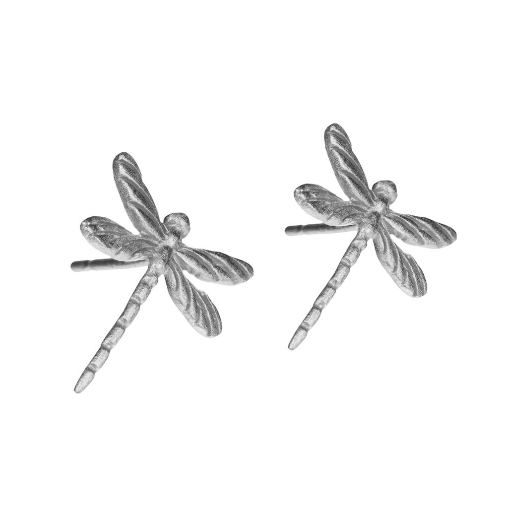By Lauren Amsterdam Dragonfly Earrings Silver Studs