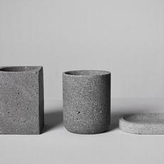 Kiwano Grey Basalt Soap Dish