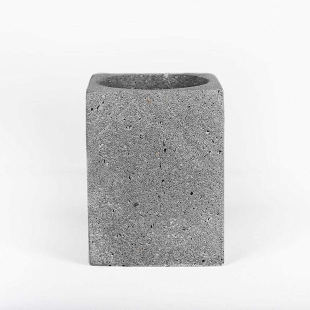 Kiwano Grey Basalt Pen or Toothbrush Holder