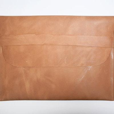 Kiwano Leren Clutch Tas, Laptop Sleeve | 12 inch, 15 inch