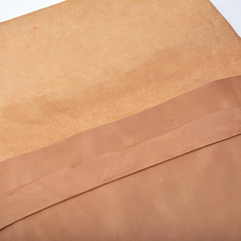 Kiwano Leather Clutch Bag, Laptop Sleeve | Brown