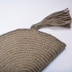 Kiwano Half moon Clutch Bag With Tassel | Grey