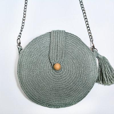 Kiwano Round Shoulder Bag | Sea Green