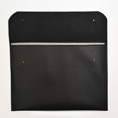"""Kiwano Zwart Leren Clutch, Tablet, Laptop Sleeve """"12 inch"""""""