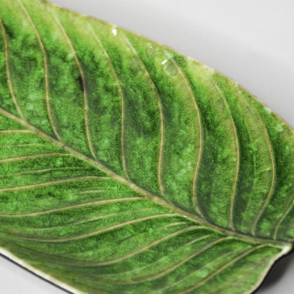 Costa Nova Large Serving Dish Leaf  Shape