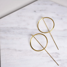 Biell Design Minimalistic Silver Gold Plated Earrings