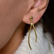 Biell Design Minimalistische Gold Plated Oorbellen