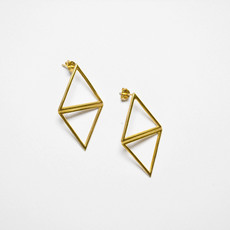 Biell Design Triangle Gold Plated Earrings