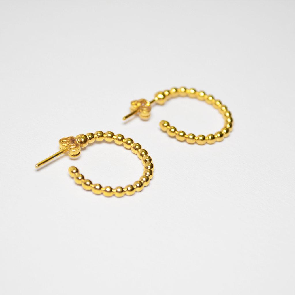 Biell Design Gold Plated Hoop Oorbellen