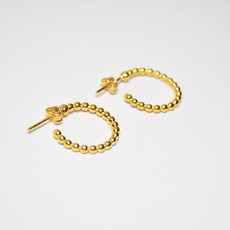 Biell Design Gold Plated Hoop Earrings