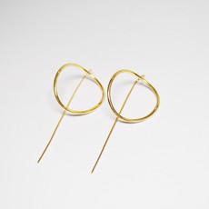 Biell Design Minimalistische Goud vergulde Oorbellen