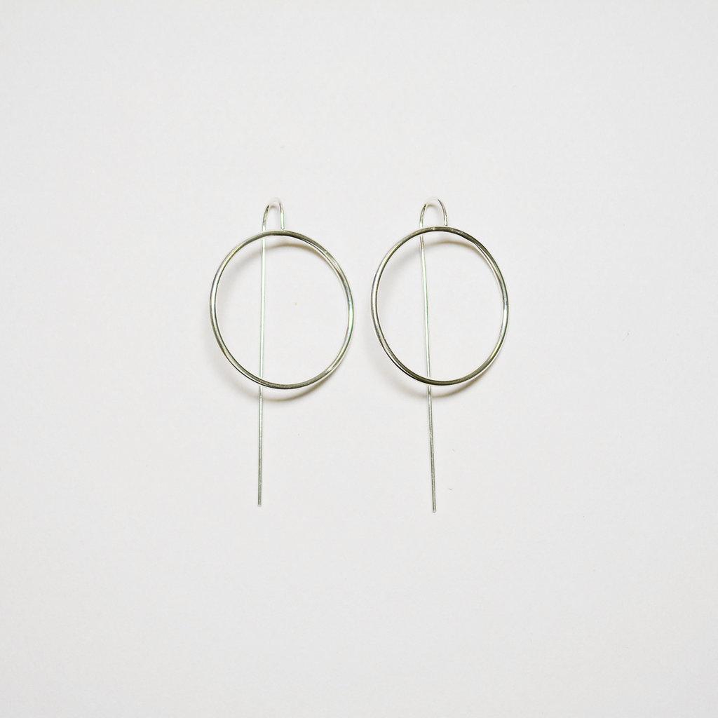 Biell Design Minimalistic Silver Earrings