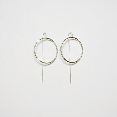 Biell Design Minimalistische Zilveren Oorbellen