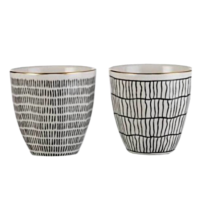 Ceramic Cup with Lines