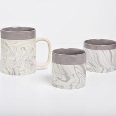 Kinta Marblelook Ceramic Cup | Gray