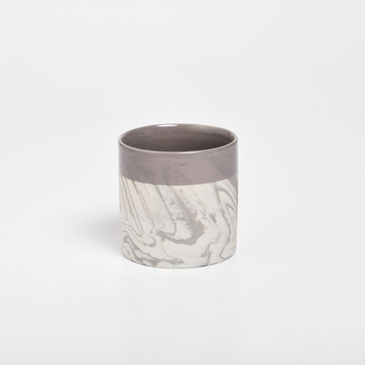 Kinta Marble look Ceramic Cup, Gray
