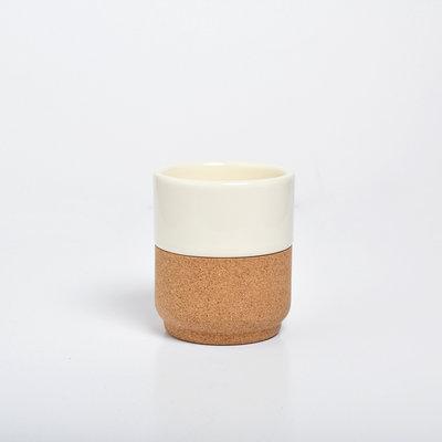 Alma Gemea Cork Ceramic Cups Creme
