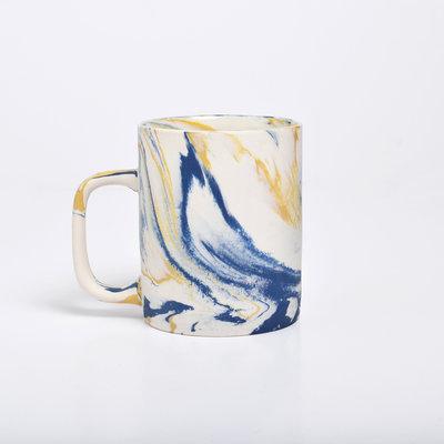Kinta Marble look Mug | Mustard Blue
