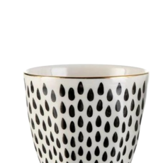 Ceramic Cup With Drop Pattern