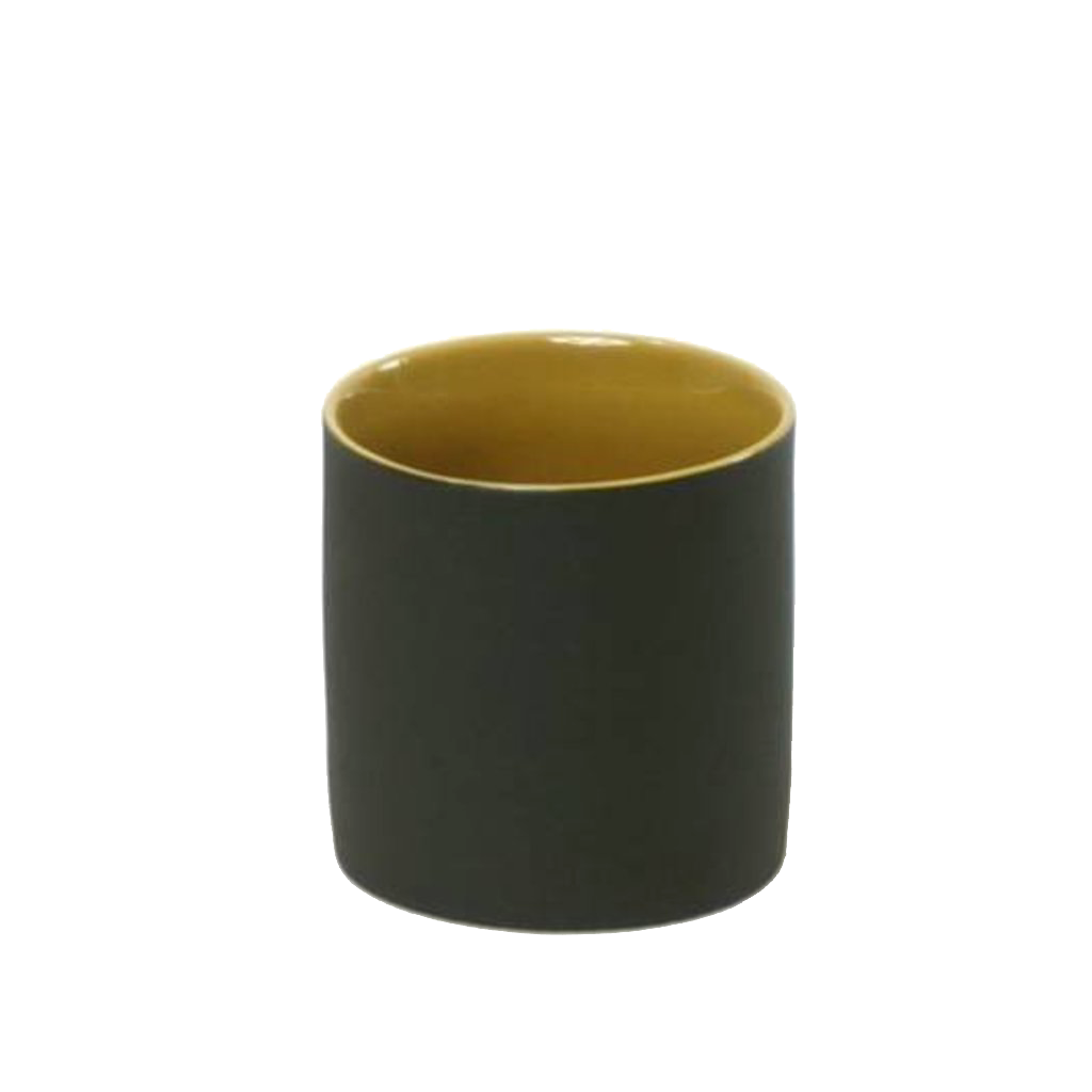 Kinta Cup without handle / Mustard, Gray