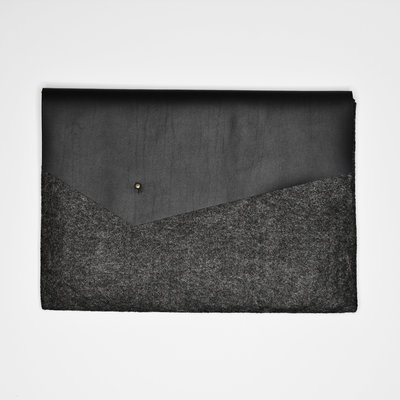 Kiwano Simple Laptop Tas Clutch | Vilt Leer | M