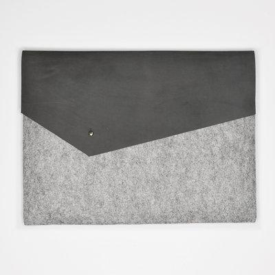 Kiwano Simple Laptop Tas Clutch | Vilt Leer | M