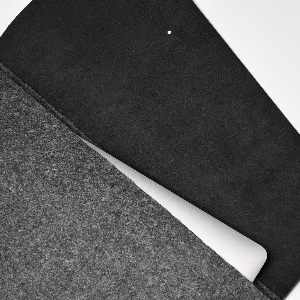 Kiwano Minimalistische Laptop Tas Clutch | Vilt & Leer | L
