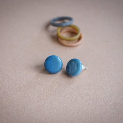 Bonita Republica Bonita Republica Tague Earrings Blue