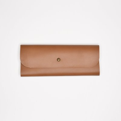 Kiwano Leather Glasses Case Brown