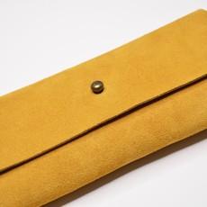 Kiwano Leather Glasses Case Ochre Yellow