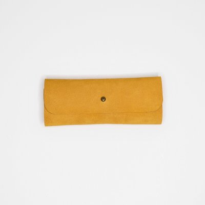 Kiwano Leather Glasses Case Ochre Yellow