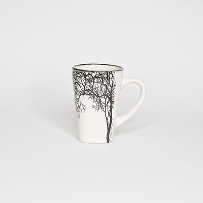 Small White Tree Espresso Cup