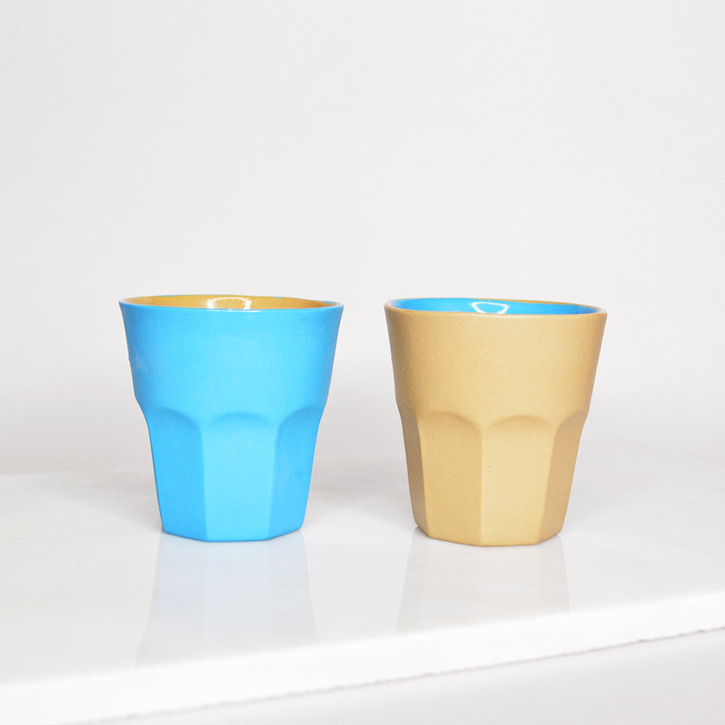 Kiwano Contrast Color Espresso kopje  | set van 2