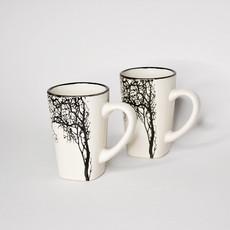 Small White Tree Espresso Cup