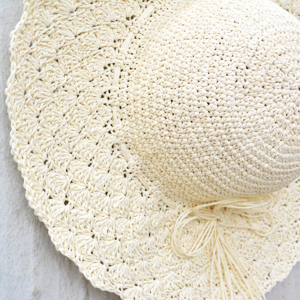 Kiwano White Women's Sun Hat Straw