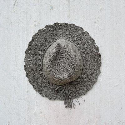 Kiwano Dark Grey Women's Sun Hat Straw
