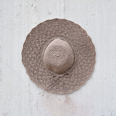 Kiwano Taupe Women's Sun Hat Straw
