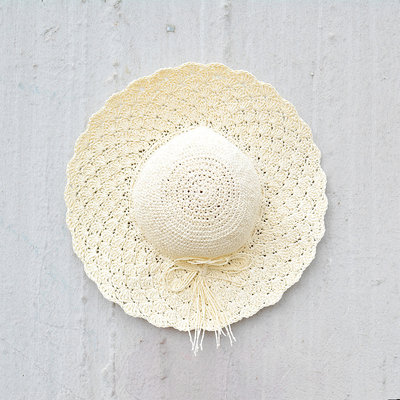 Kiwano White Women's Sun Hat Straw