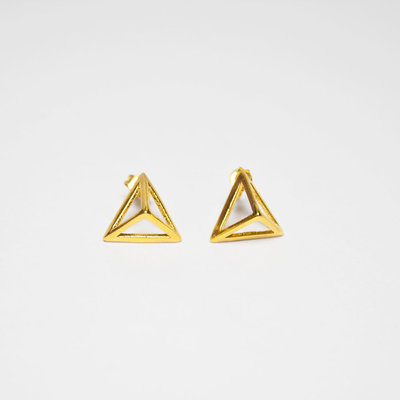 Biell Design Geometric Gold Plated Earrings