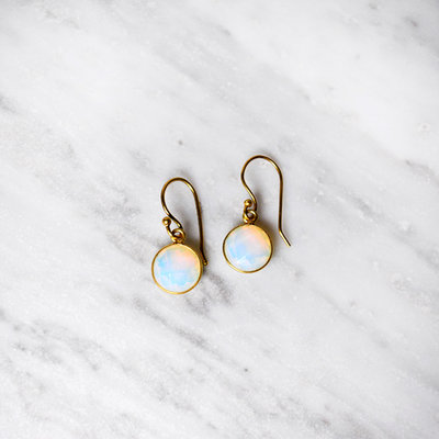 Biell Design Earrings Silver Gold Plated With Gemstone