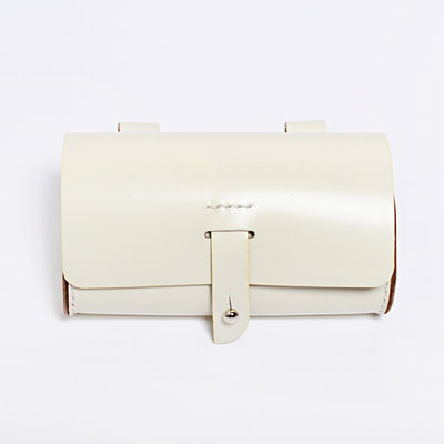 Gush Goods Leather Waist Bag | White