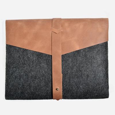 Kiwano Leather Felt Tablet, Laptop Sleeve 12 inch