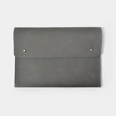 "Kiwano ""Mono"" Gray Leather Clutch"