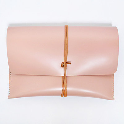 Gush Goods Leather Clutch Bag | Pink